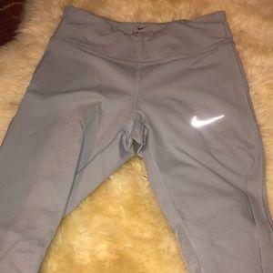 Baby blue dri-fit Nike leggings size small